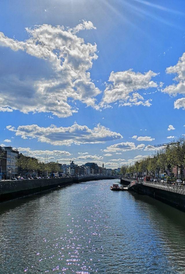 View of River Liffey in Dublin, Ireland